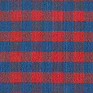 Red and Royal Blue Plaid Fabric