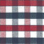 Navy and Red Plaid Fabric - 100% Cotton Fabric | Plaid Fabric Wholesale