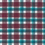 Turquoise and Burgundy Plaid Fabric | Plaid Fabric Wholesale