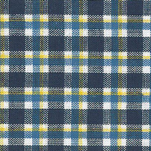 Yellow and Navy Plaid Fabric