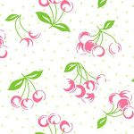 Cherry Print Fabric: Pink | Cherry Pattern Fabric - 100% Cotton