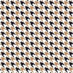 Black and Bronze Houndstooth Print Fabric