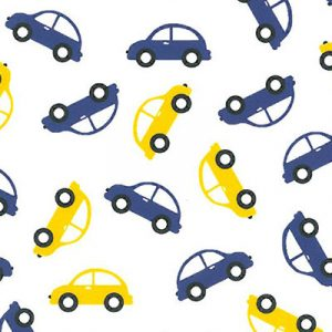 Car Print Fabric: Purple and Gold | Wholesale Cotton Fabric - 100% Cotton