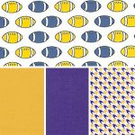 Football Fabric Collection: Purple & Gold | Purple and Gold Fabric
