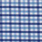 Cobalt, Nautical, and White Check Fabric - T#104 | Tattersall Check Fabric