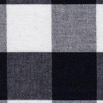 "1"" Gingham Fabric: Black   Black Gingham Fabric - 100% Cotton"