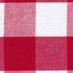 """Red Gingham Fabric: 1"""" Gingham Fabric   Wholesale Check Fabric"""