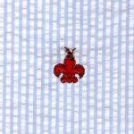 Crawfish Fabric - Embroidered Seersucker Fabric | Crawfish Print Fabric