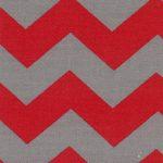Red and Grey Chevron Fabric | Multi Color Chevron Fabric - Print #1304
