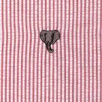 Elephant Cotton Fabric - Embroidered Seersucker | Elephant Baby Fabric