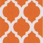 Orange Quatrefoil Fabric | Quatrefoil Fabric - Print #1411