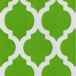 Green Quatrefoil Fabric | Quatrefoil Fabric | Wholesale Fabric - Print #1412