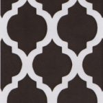 Brown Quatrefoil Fabric | Quatrefoil Fabric | Wholesale Fabric - Print #1416