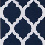 Navy and White Quatrefoil | Quatrefoil Fabric Wholesale