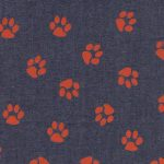 Printed Denim Fabric - Paw Print | Wholesale Denim Fabric
