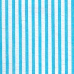 Striped Seersucker Fabric - Turquoise - Wholesale Cotton Fabric - WS-S21