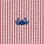 Crab Seersucker Fabric | Embroidered Seersucker Fabric