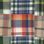 Cotton Patchwork Fabric: Navy, Orange &Khaki | Patchwork Fabrics