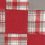 Cotton Patchwork Fabric | Red and Grey Fabric | Patchwork Fabrics