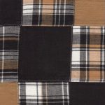 Cotton Patchwork Fabric | Black and Bronze Patchwork