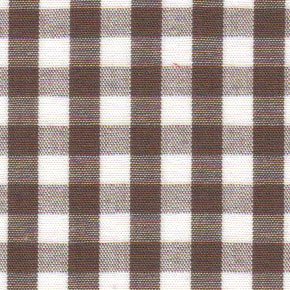 Brown Gingham Fabric - 1/4"