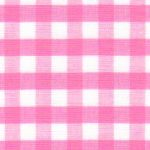 "Hot Pink Gingham Fabric - 1/4"" Check 