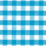 "Turquoise Gingham Fabric - 1/4"" Check 