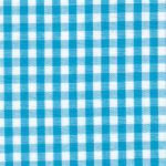 Turquoise Gingham Fabric: 1/8"