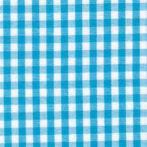 "Turquoise Gingham Fabric: 1/8"" | Wholesale Cotton Fabric"