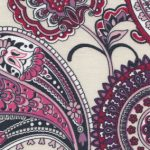 Purple Paisley Fabric: 100% Cotton | Wholesale Paisley Fabric