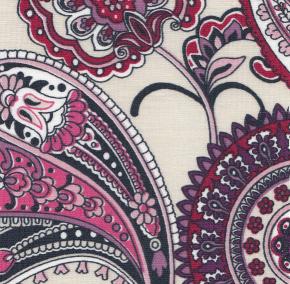 Purple Paisley Fabric: 100% Cotton | Wholesale Paisley Fabric