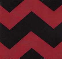 Red and Black Chevron Fabric | Red Chevron Fabric - Print #1483