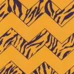 Purple and Gold Chevron Fabric | Purple and Gold Fabric - Print #1566