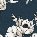 Teal Floral Fabric - Print #1548 | Floral Fabric Wholesale
