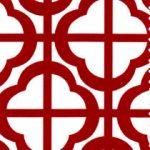 Red Geometric Fabric | Geometric Pattern Fabrics - Print #1653