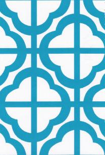 Turquoise Geometric Fabric | Geometric Print Fabrics - Print #1656