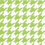 Green Houndstooth Fabric: 100% Cotton | Large Houndstooth Fabric