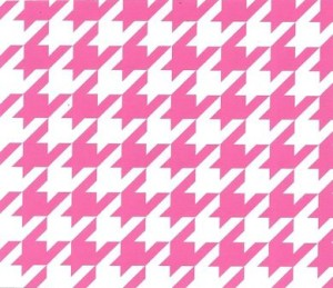 Pink Houndstooth Fabric: Large | Wholesale Houndstooth Fabric