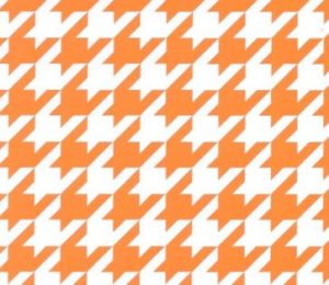 Large Houndstooth Fabric: Orange | Wholesale Houndstooth Fabric