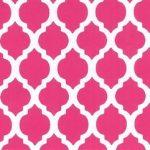 Raspberry Quatrefoil Fabric | Quatrefoil Fabric - Print #1417