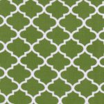 Dark Lime Green Quatrefoil Fabric | Quatrefoil Fabric