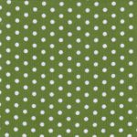 Polka Dot Corduroy Fabric - Green | Printed Corduroy Fabric