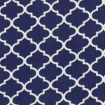 Royal Quatrefoil Fabric | Cotton Corduroy Fabric - Prnt CD52