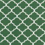 Hunter Green Quatrefoil Fabric | Quatrefoil Fabric | Corduroy