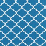Turquoise Quatrefoil Fabric - 100% Cotton | Corduroy Fabric Wholesale