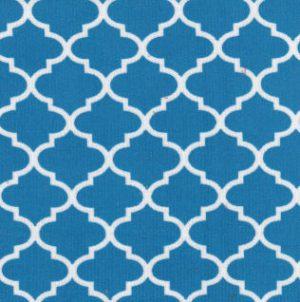 Turquoise Quatrefoil Fabric - 100% Cotton | Corduroy Fabric Wholesale