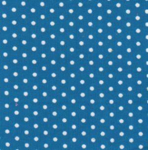 Polka Dot Corduroy Fabric - Blue | Printed Corduroy Fabric