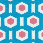Turquoise Geometric Fabric | Geometric Fabric - Turquoise Print #1712