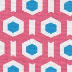 Coral Geometric Fabric | Geometric Fabrics - Print #1713