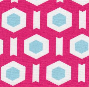 Pink Geometric Fabric   Geometric Fabrics - Print #1714